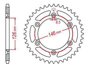 Rear sprocket TT Esjot