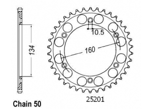 Rear sprocket Esjot
