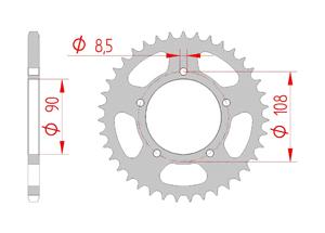 KIT STEEL DUCATI 750 SANTA MONICA 87-88 Hyper Reinforced Xs-ring
