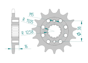 KIT STEEL DUC 748 STRADA-SP 95-98 FOR PCD1 Hyper Reinforced Xs-ring