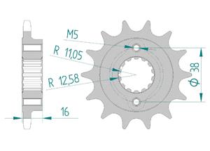 KIT STEEL DUCATI 800 MONSTER IE DARK 2003 Super Reinforced Xs-ring