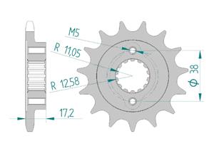 KIT STEEL DUC 796 HYP-MOT 10-12 FOR PCD2 Hyper Reinforced Xs-ring