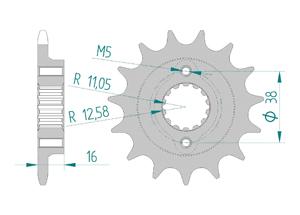 KIT STEEL DUC 800 MONSTER S2R 05-08 FOR PCD2 Super Reinforced Xs-ring