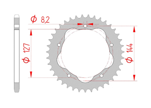 KIT STEEL DUC 800 MONSTER S2R 05-08 FOR PCD2