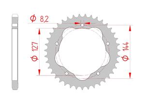 KIT STEEL DUCATI 996 R - 998 S FOR PCD1
