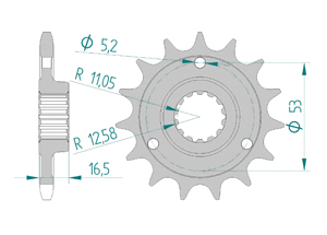 KIT STEEL DUC 1000 MONSTER S2R 06-08 FOR PCD2