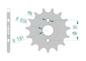 Front sprocket 420 HONDA CR 80 R