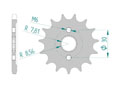 Front sprocket 428 HONDA CR