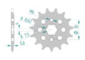Front sprocket Chain 415 20103J