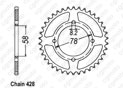 Rear sprocket Gn 125 92-98