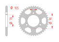 rear steel sprocket 420 honda