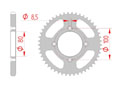 rear steel sprocket 428 ajp