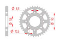 rear steel sprocket 428 daelim