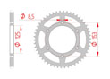 rear steel sprocket 520 hm honda