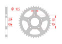 rear steel sprocket 520 gilera