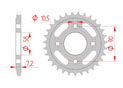rear steel sprocket 520 honda